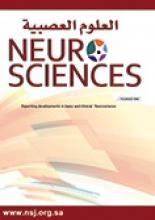 Neurosciences Journal: 13 (1)