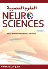 Neurosciences Journal: 13 (2)
